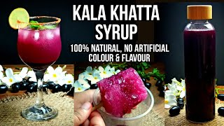 Kala Khatta Syrup Recipe  Kala Khatta Sharbat  Ice Gola Syrup at Home @My Lockdown Rasoi