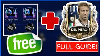 HOW TO GET PRIME ICON DEL PIERO FOR FREE! FIFA MOBILE 20 UEFA CHAMPIONS LEAGUE EVENT GUIDE!
