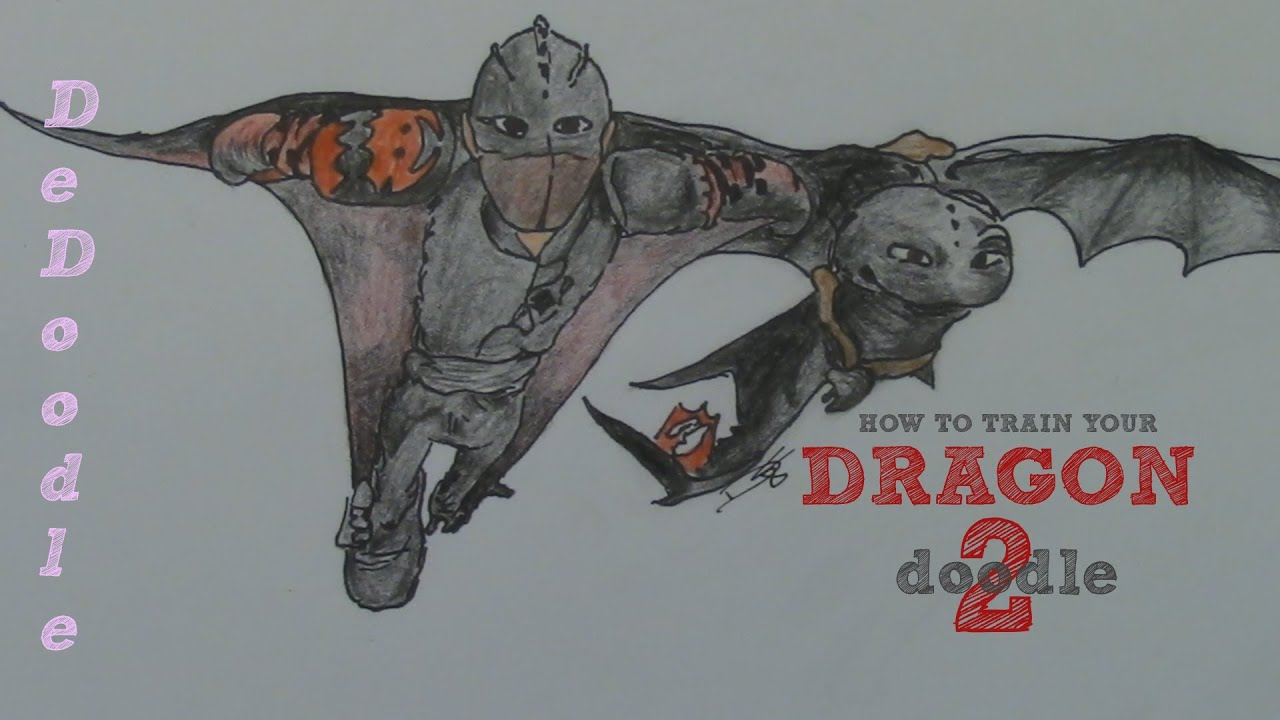 How to draw toothless and hiccup skydiving dreamworks how to how to draw toothless and hiccup skydiving dreamworks how to train your dragon 2 youtube ccuart Image collections