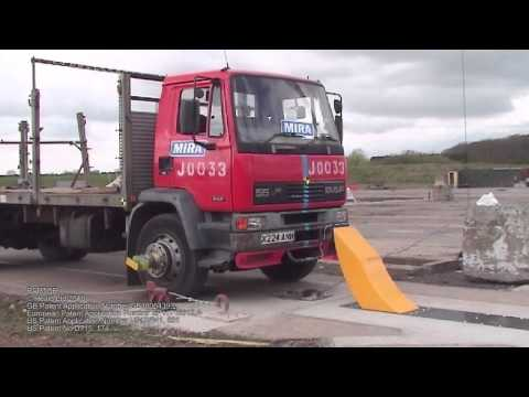 Heald HT1-Raptor Shallow Mount Automatic Bollard PAS68 Crash Test