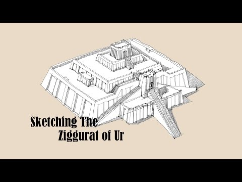Architecture Sketch #004 Ziggurat of Ur