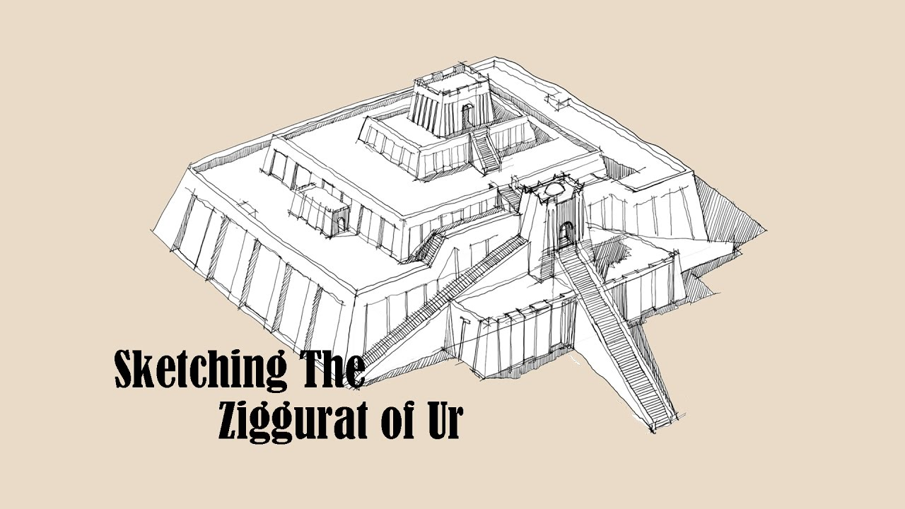 architecture sketch 004 ziggurat of ur youtube