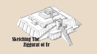 Architecture Sketch #004 Ziggurat of Ur