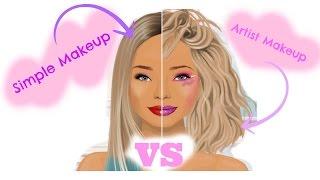 Simple Makeup VS Artistics Makeup - Gul & Feyza Sd ♥