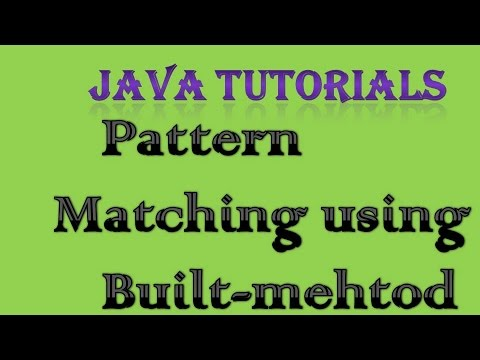 Pattern Matching in Java using Built-in Method | Interview Coding Question