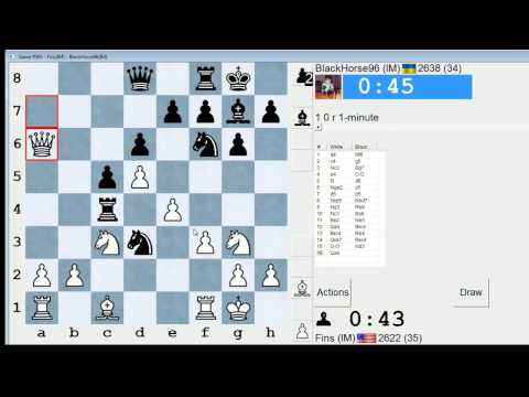 Bullet Chess #47: 14 games in the ICC 1-minute pool