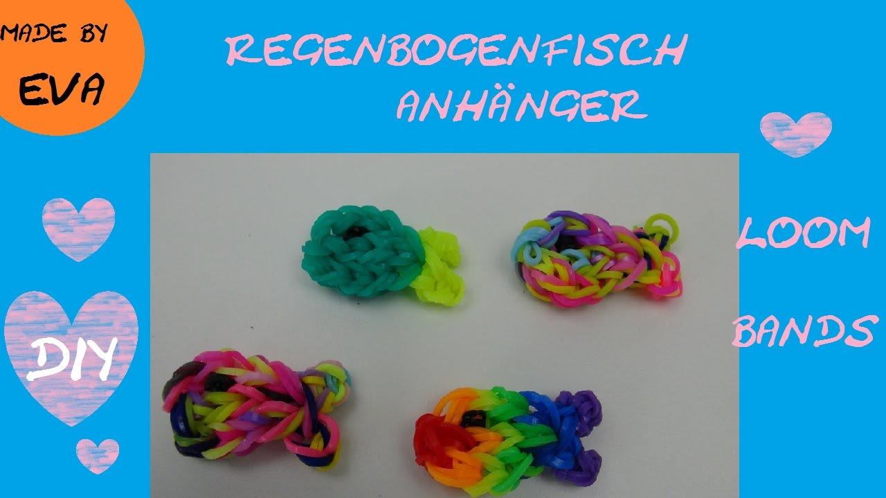 Diy Loom Bands Regenbogen Fisch Anhänger Mit Loom Board Anleitung