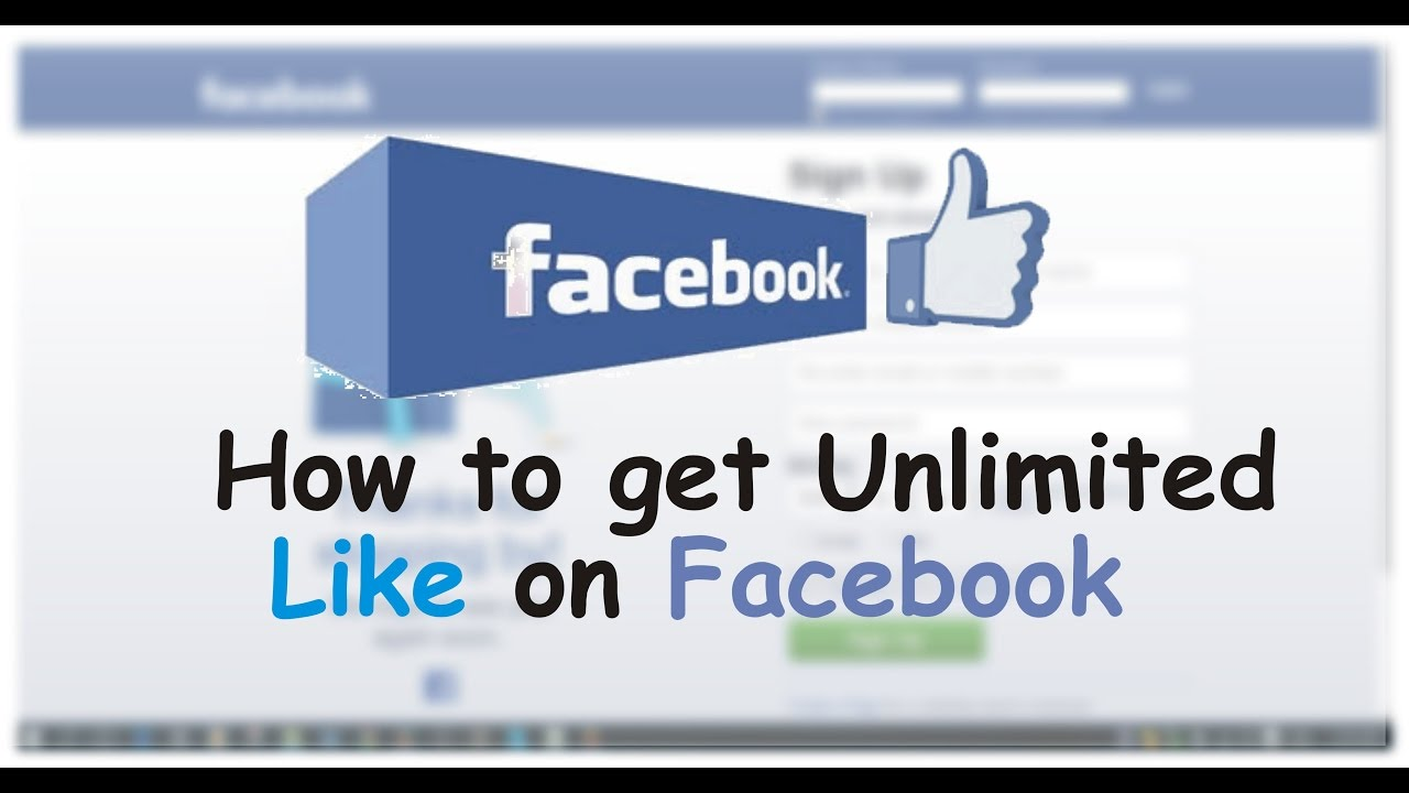 How To Get Unlimited Auto Likes On Facebook 2017 100 Working Youtube