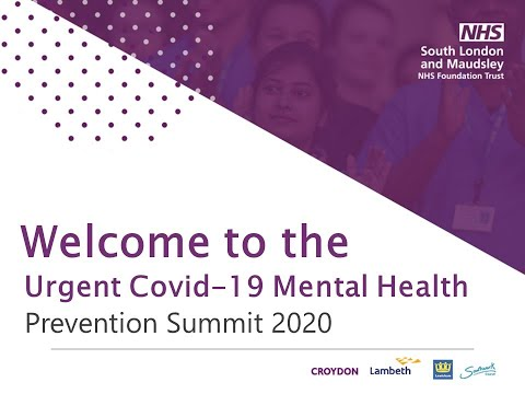 Urgent South London Covid-19 Mental Health Prevention Summit 2020