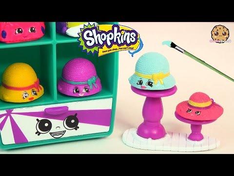 DIY Custom Shopkins Season 3 Hattie Hat Paint Craft Blind Bag Surprise Toy Video Cookieswirlc