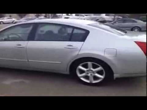 2004 Used Nissan Maxima In Silver Metallic And Black Interior