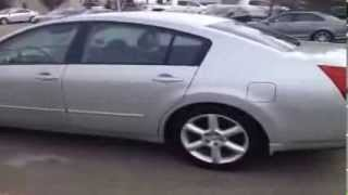 2004 Used Nissan Maxima in Silver Metallic and Black interior Edmonton, Canada