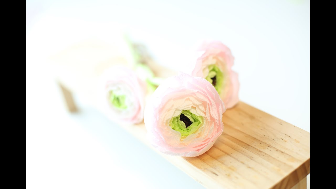 How to make paperflowers crepe paper 1king ranunculus youtube mightylinksfo