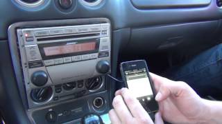 GTA Car Kits - Mazda MX-5 Miata 2002-2005 iPod, iPhone, iPad, mp3 and AUX adapter installation