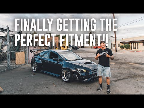 INSTALLING THE WIDEBODY WRX WHEELS! Work Meister 3 Piece