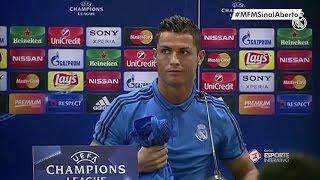 Cristiano Ronaldo se irrita, deixa a coletiva e Zidane dá risada!