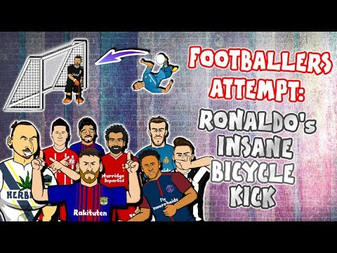 💥FOOTBALLERS ATTEMPT: Ronaldo's Bicycle Kick💥 (Juventus vs Real Madrid 0-3 2018 Goals)
