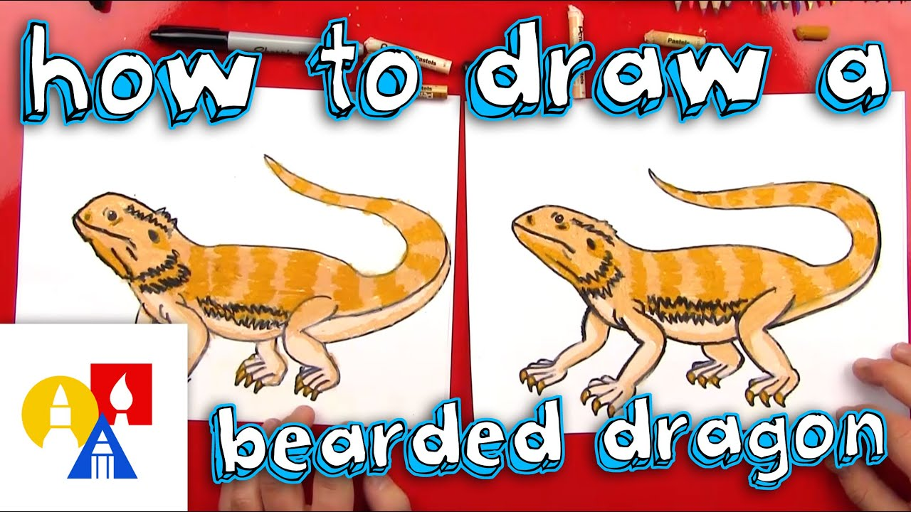 How To Draw A Bearded Dragon Art For Kids Hub