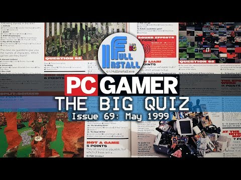 PC Gamer Magazine THE BIG QUIZ 1999
