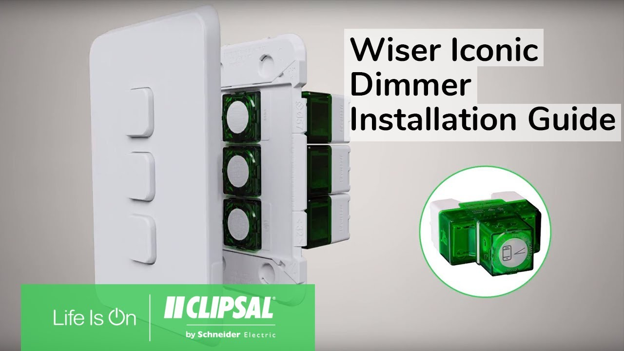 Wiser Iconic Dimmer Installation Guide Youtube