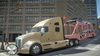 GTA IV Truck+Trailer Put cars on second floor