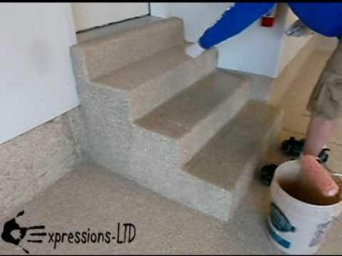 Epoxy Coating Garage Floor with Acrylic Flake