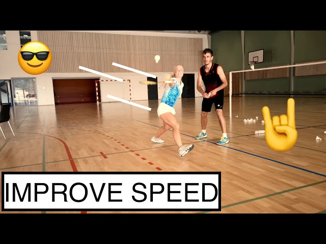 BADMINTON EXERCISE #75 - SQUARE FEEDING, DIRECTIONAL CHANGES