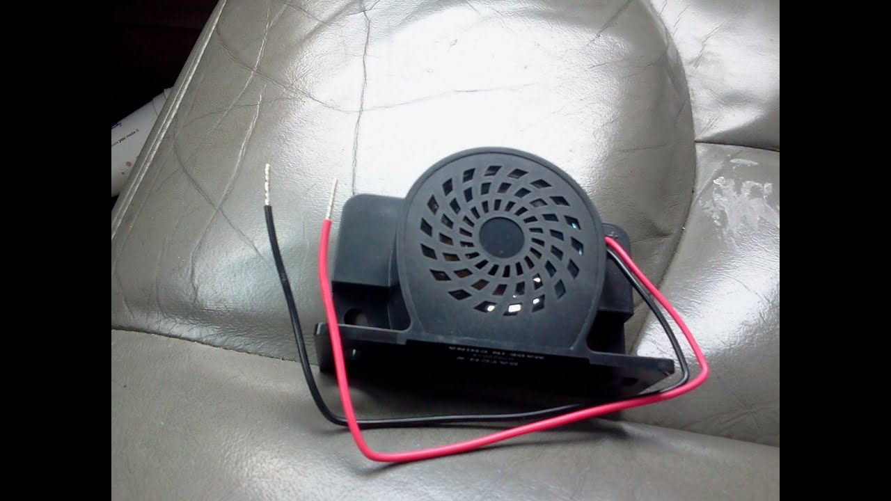 hight resolution of backup reverse alarm
