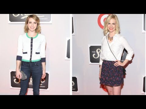 Emma Roberts and January Jones Fashion, Shops at Target Party, Fab Flash