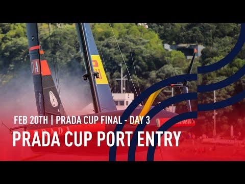🔴 PRADA Cup Port Entry Stern Camera | Final Day 3