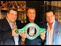 SYLVESTER STALLONE RECEIVES WORLD BOXING COUNCIL SPECIAL ROCKY BELT