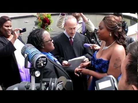 Historic Civil Union Ceremony - Millennium Park - Gov. Pat Quinn and Mayor Rahm Emanuel