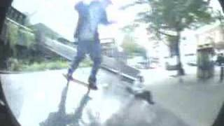 Old footy steve murphy Nollie heel into Euston bank