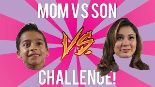 Mom Vs Son Challenge!!! LOSER GETS PUNISHED!! ANDREA ESPADA VS KING FERRAN!