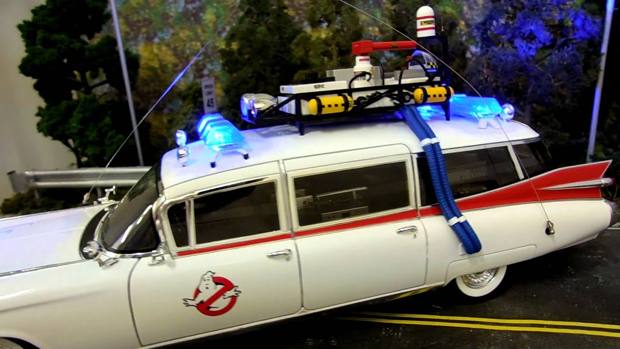 Police Car Lights Wallpaper 1 18 Scale Ghostbusters Ecto 1 Diecast Model With Flashing