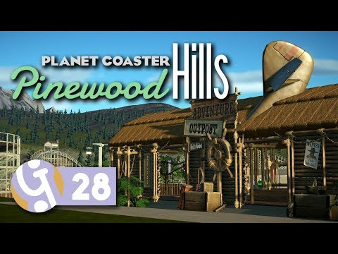 Adventure Area Boat Station | Pinewood Hills | Let's Play Planet Coaster #28
