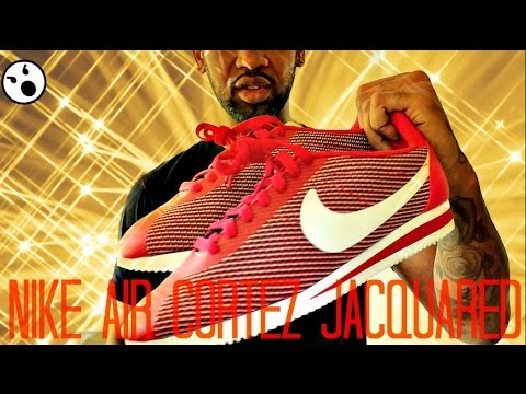 TRYING On Pair NIKE AIR CORTEZ JACQUARD | UNBOXING & REVIEWS ...