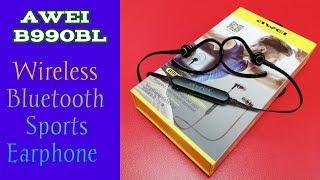 AWEI B990BL Wireless Sports Earphone Unboxing amp Review Best Sports Bluetooth Earphone
