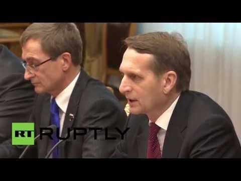"Russia: ""U.S. cause instability in Middle East"" - State Duma speaker"