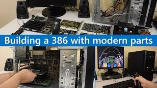 Building a 386 DOS gaming PC with modern parts Roland MT-32 Video