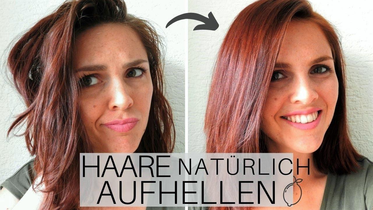 Henna gefärbte Haare natürlich aufhellen - Geht das