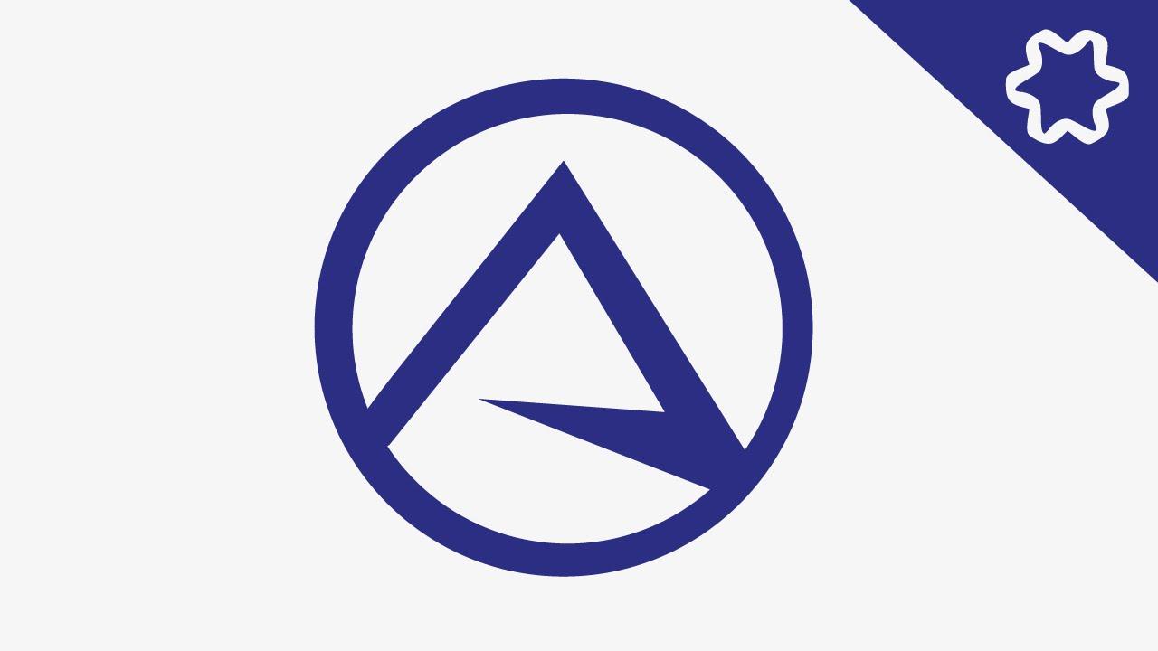 Simple Letter Logo Design Tutorial  Circular Logo  Adobe illustrator Tutorial  Simple Logo