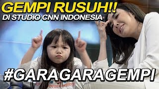 RUSUUUUUH!!!! GEMPI ACAK ACAK STUDIO CNN INDONESIA #GaraGaraGempi   Vlog CNN Mama Isel & Gempi