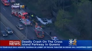 Deadly Crash On The Cross Island Parkway In Queens