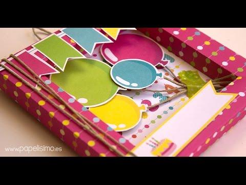 Tarjeta de cumpleaños 3D Scrapbooking - YouTube