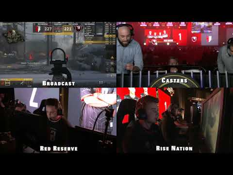 Caster Reactions: Rise Nation vs. Red Reserve DRAW   CWL Anaheim 2018