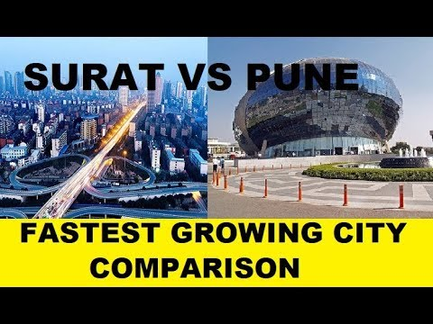 Surat vs Pune  | comparison | Fastest growing city in India | SILK CITY VS OXFORD OF EAST