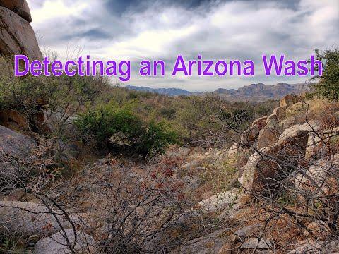 Treasure Hunting - Arizona Wash For Gold Nuggets