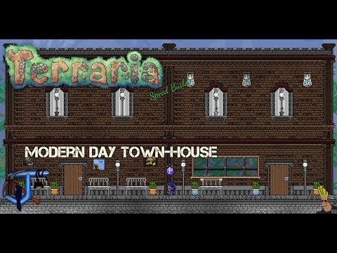 Terraria Speed Build Modern day Townhouse  YouTube