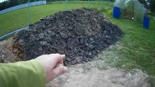 черная глина и обвал колец при копке колодца